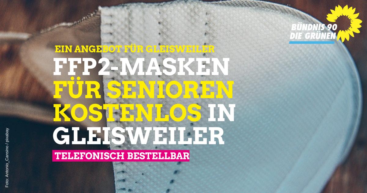 Kostenlose Abgabe von FFP 2 Masken in Gleisweiler
