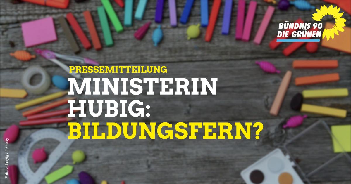 Ministerin Hubig: Bildungsfern?