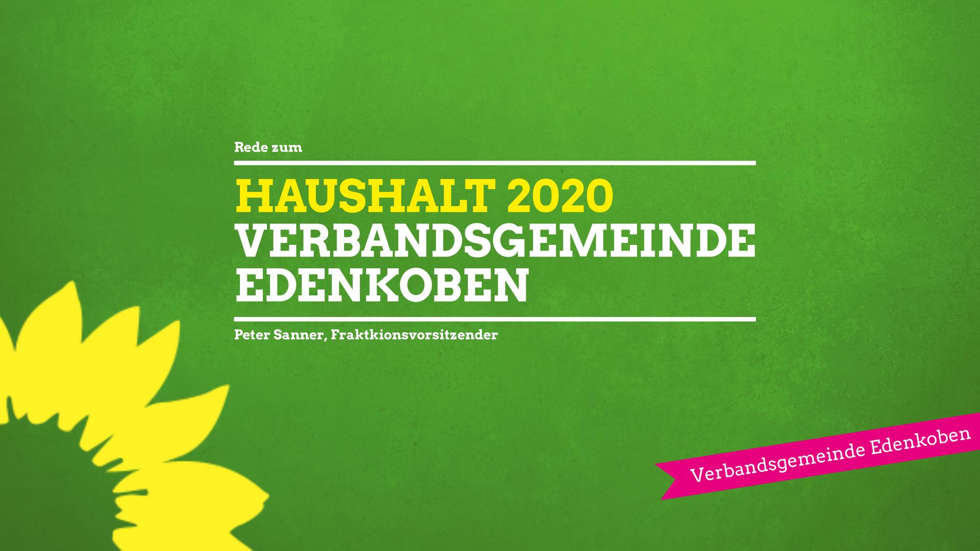 Rede zum Haushalt VG Edenkoben 2020
