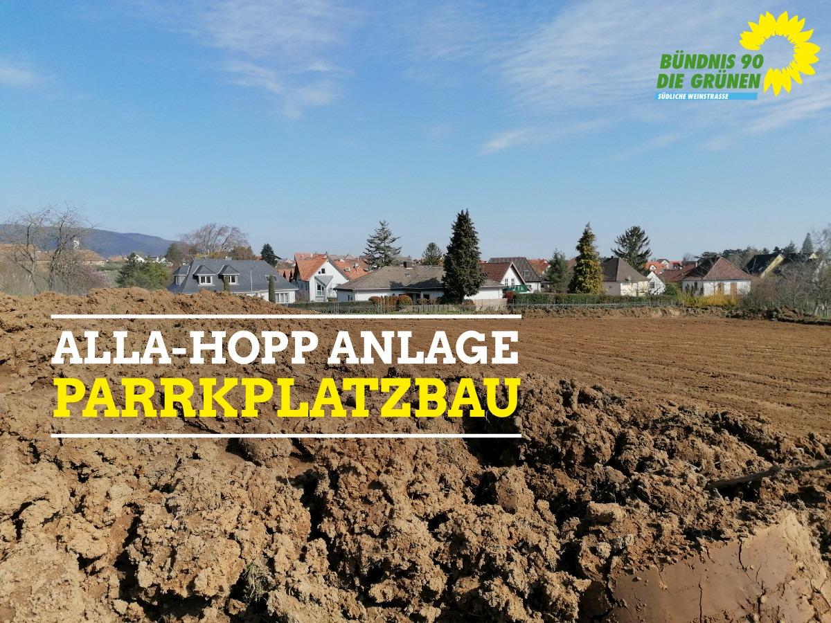 Aktueller Zustand Parkplatz an der Alla-Hopp-Anlage