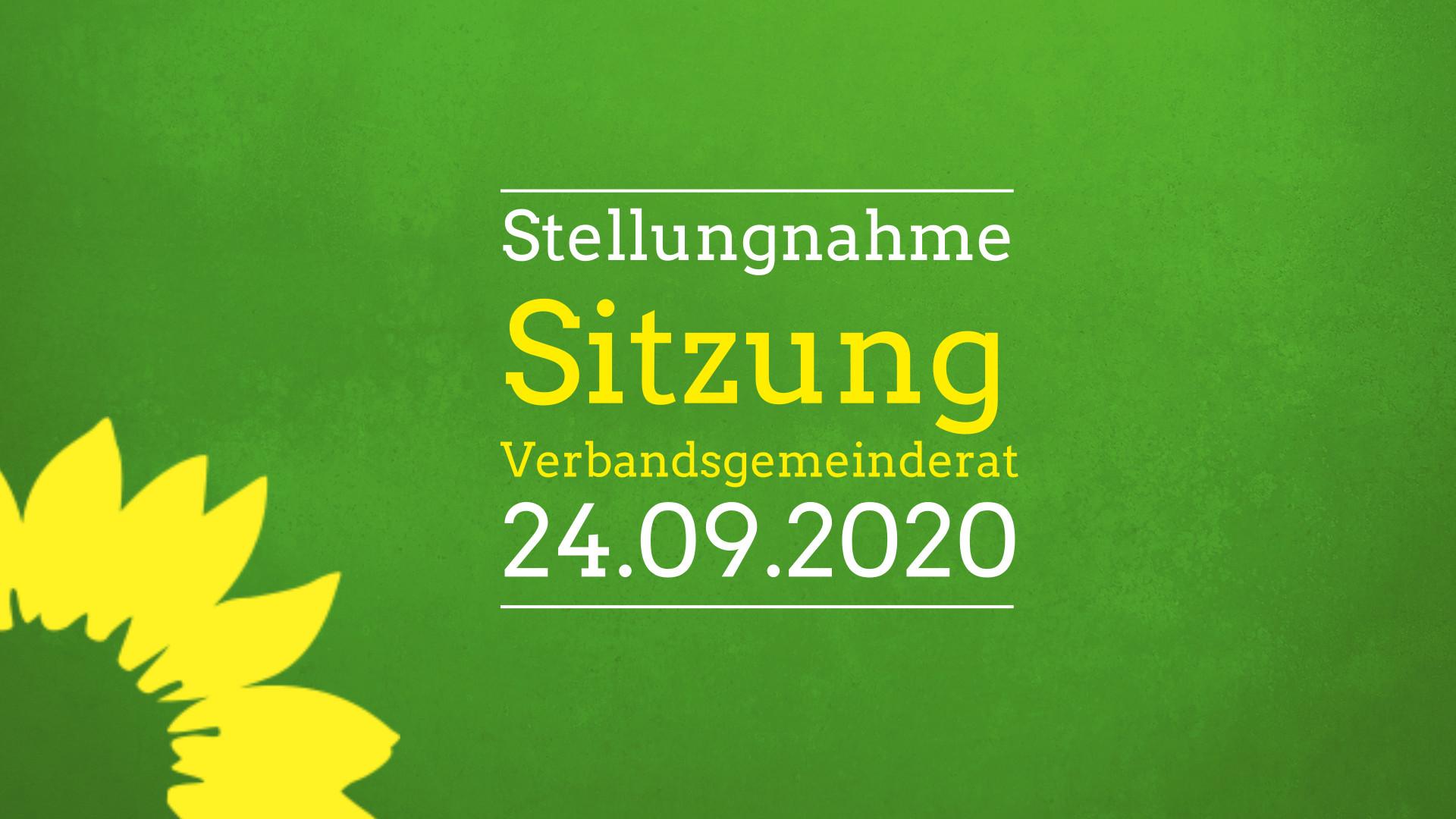 Stellungnahme zur Sitzung Verbandsgemeinderat 24.09.2020