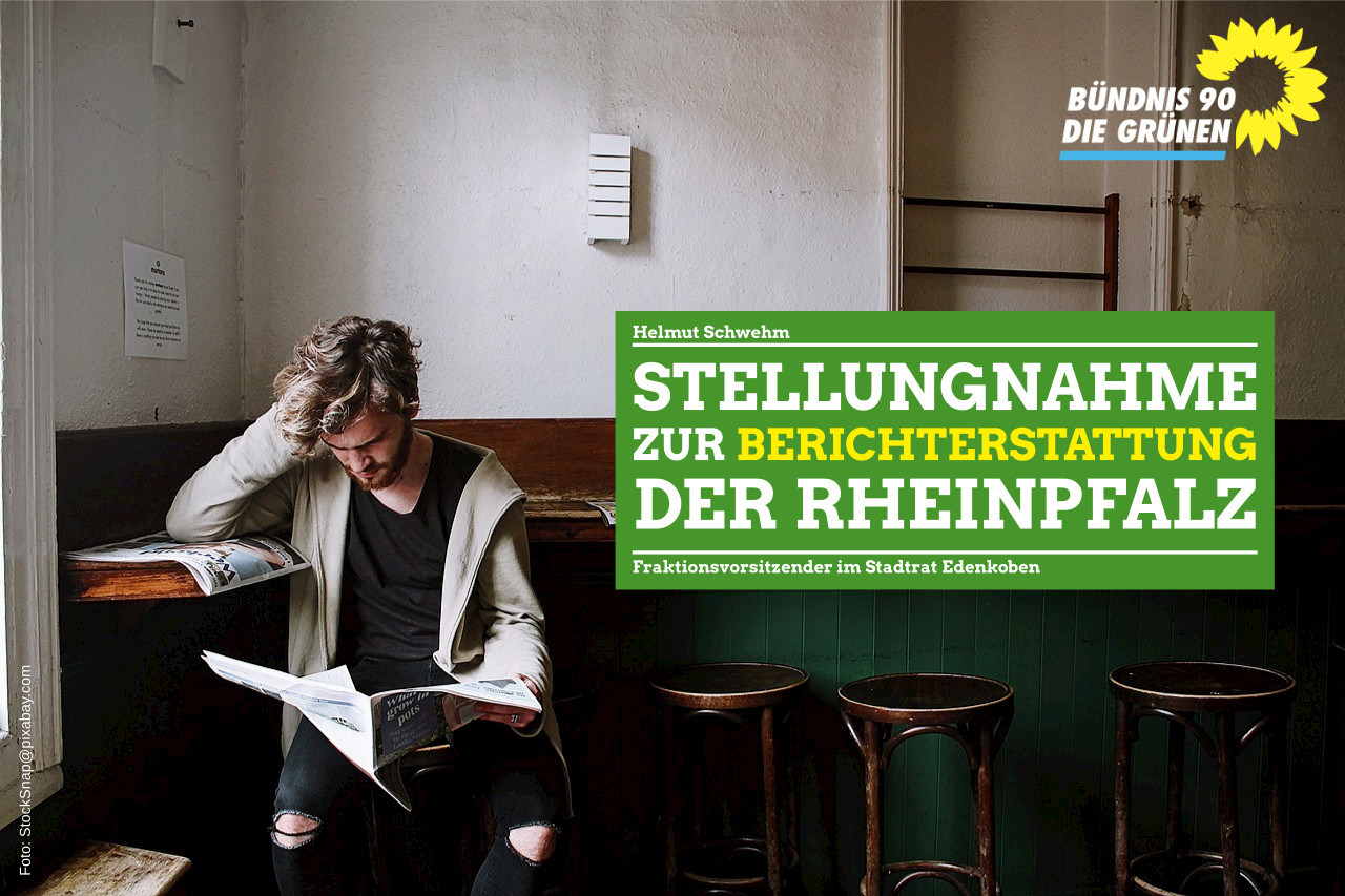 Stellungnahme zu Berichterstattung der Rheinpfalz